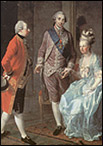 Мария-Антуанетта со своим мужем и братом. 1777г. худ. Джозеф Хаузингер.