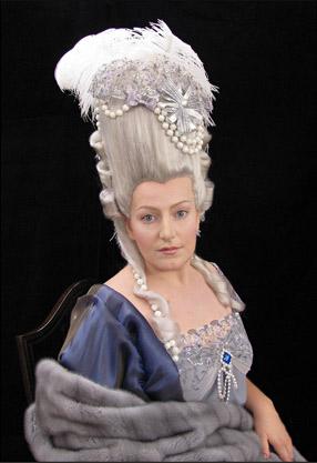 Грим исторической ретроспективы портрета Марии-Антуанетты