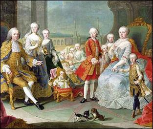 Царская семья в 1756 году.