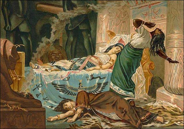 Juan Luna y Novicio (1857-1900) The Death of Cleopatra, 1881. Museo de Bellas Artes, Bilbao, Spain.