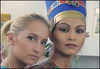 Царица Нефертити. Рабочие моменты в гримерной