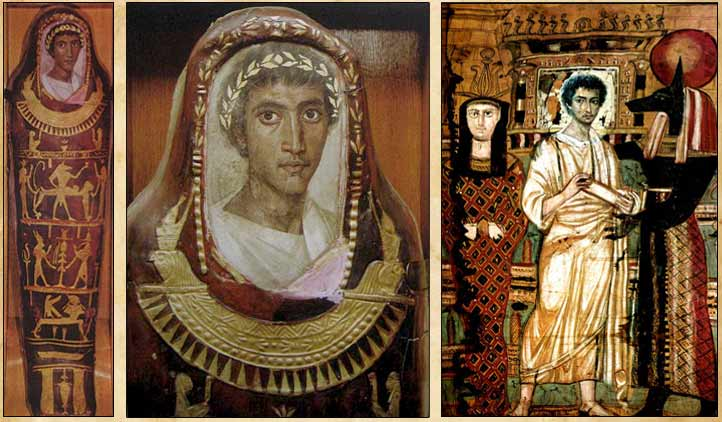 В фаюмских портретах соединились древнеегипетские и античные традиции.
