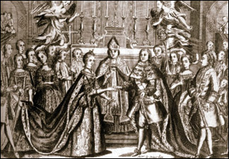 Свадебная церемония Людовика  XVI и Марии Антуанетты.