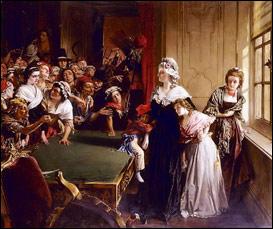 Мария-Антуанетта с детьми и мадам Элизабет, когда толпа ворвалась в Тюильри 20 июня 1792 года.