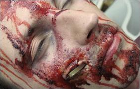 Спецэффекты.Колотые и резаные раны.Вариант 1