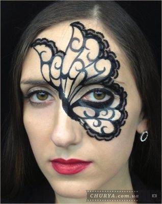 грим бабочки