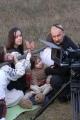 Подготовка к съемкам сюжета с отрубленной головой